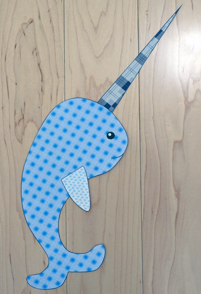 narwhal-paper Letter Template Learning on journey meter, for scheme, experience characters, for toddlers print out,