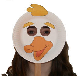 Paper Plate Duck Craft or Mask