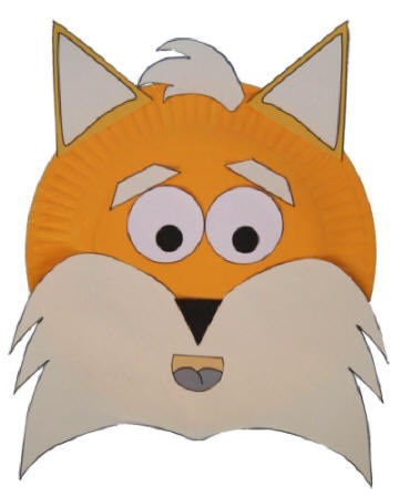 Paper Plate Fox Craft