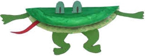 frog puppet paper plate craft