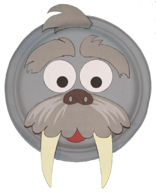 Paper Plate Walrus Craft