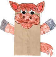 donkey paper bag puppet