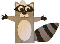 Paper Bag Raccoon Craft