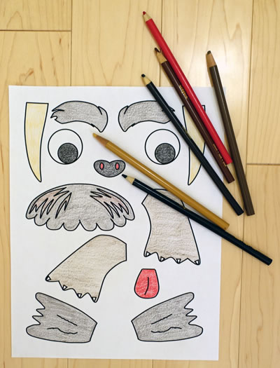 color the walrus template