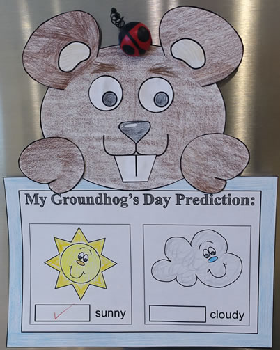 Groundhog paper craft