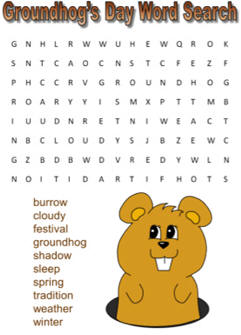 groundhog word search