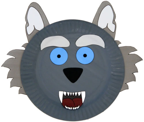 Paper Plate Wolf Craft for kids