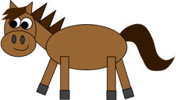 horse shapes craft