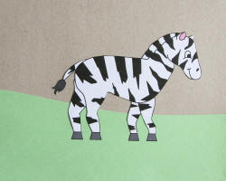 zebra at the zoo craft