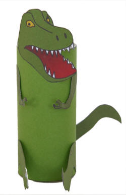TRex Toilet Paper Roll Craft