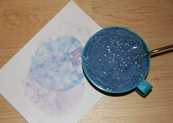 bubble painting craft