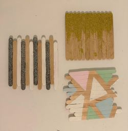 DIY Popsicle Stick Coaster Craft