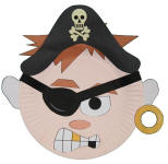 Pirate Paper Plate Craft or Mask