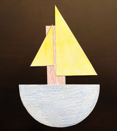 Halves Boat Shapes Craft