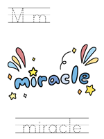 Printable print practice worksheet - Mm miracle