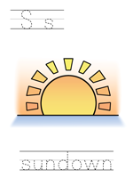 Printable print practice worksheet - Ss sundown